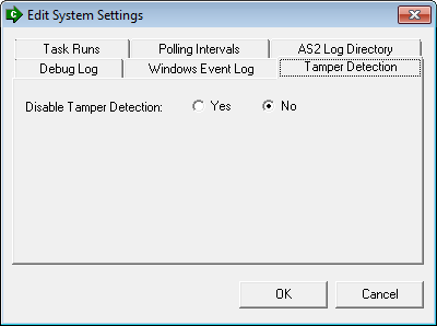 Monitoring Tasks - Related Settings