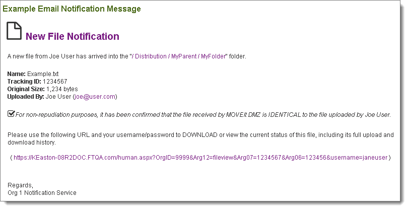 What Are The Options For Moveit Transfer Dmz Email Notifications