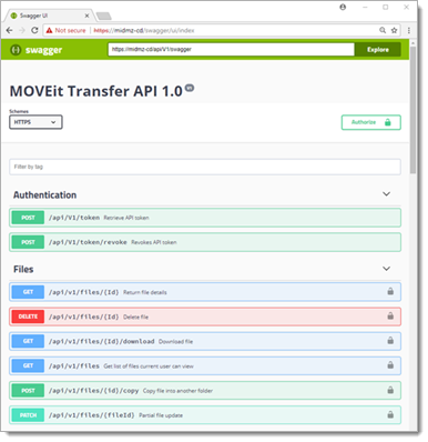 Transfer REST API 1 0 (SP1)