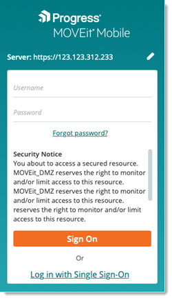 MOVEit Mobile Security Notice Disclaimer