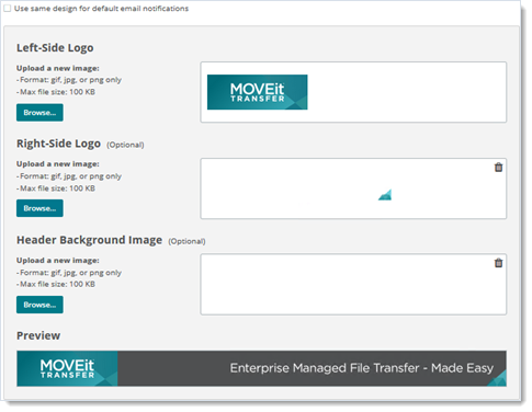 MOVEit Transfer Custom Branding for Emails