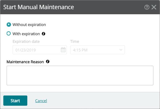 WUG19.0-Maintenance Mode Reason