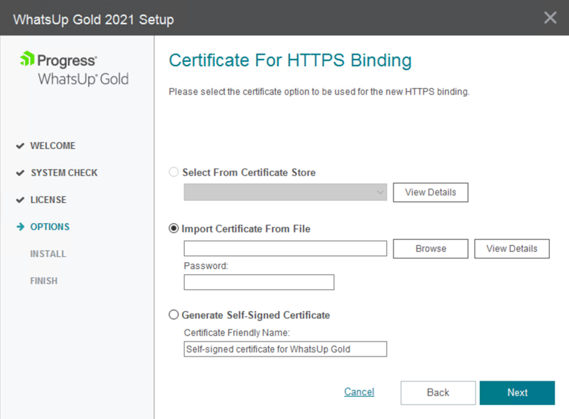 WUG21.1-Certificate Options