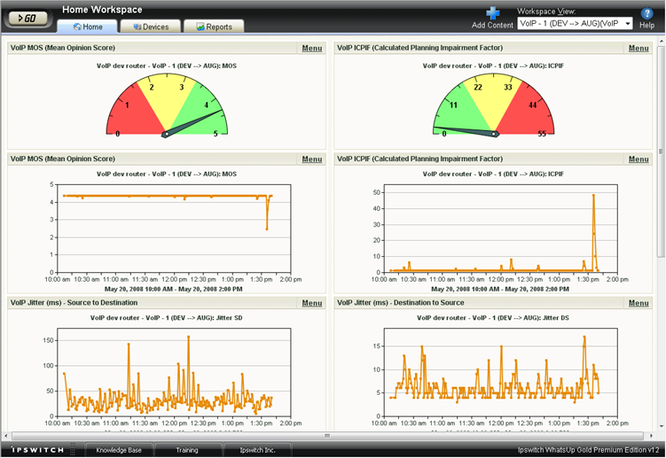 VoIP Workspace Reports View